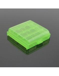 Porta Pila Plastico para 4 Bat ( Verde )